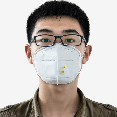 5PCs Dust Masks Protection Face Prevent Mist Haze Pm2.5 Mouth Masks With Exhalation Valve