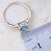 Rectangle Blue Crystal Gold Colour Earrings Ring Set T126