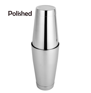 Stainless Steel Boston Shaker with 5 different Surface Finish -2 Piece Cocktail Shaker, 15-Ounce and 25-Ounce