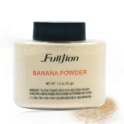 Fulljion Banana Loose Powder 1.5 oz /3 oz Bottle Luxury Powder Poudre Luxe Banana Powder 42g Beauty For Face Makeup