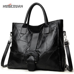Genuine Leather Handbags Famous Brands Casual Large Capacity Big Shoulder Crossbody Bags Female Bag Women Shoulder Messenger Bag