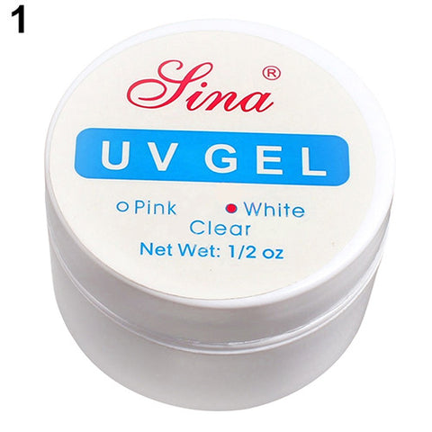 Pink White Clear 3 Color Options UV Gel Builder Gel Extend Nail Art Tips For Gel Nail Polish Manicure Extension
