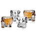 Sale 3D TransparentSkull SGlass Crystal Head Cup for Whiskey Home Bar Drinking Ware ManCup 4 pcs/set
