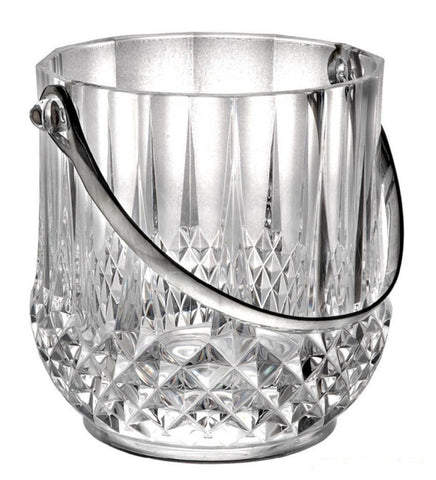 Hyaline Ice Bucket Small Acrylic Icecan Imitated Crystal Ice Container Domestic Ice Pails KTV Bar Wine Set Home Wine Set