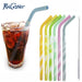 KHGDNORSpiral Silicone Straws 6 pcs/lot Silica Gel Drinking Straw Anti-choke Curved Water Drink Straws with Cleaning Brush