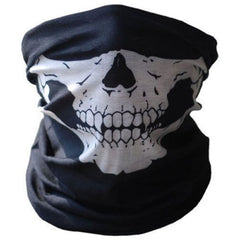 KWOKKER Motorcycle Skull Mask Halloween Cosplay Bicycle Ski Skull Mask Half Face Mask Ghost Scarf Neck Warmer skull Party Mask
