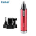 Kemei Women 4 in 1 Battery Ear and Nose Hair Trimmer Lady Profession Trimmer For Men Sideburns Hair Cut Eyebrow Trimmer 6620