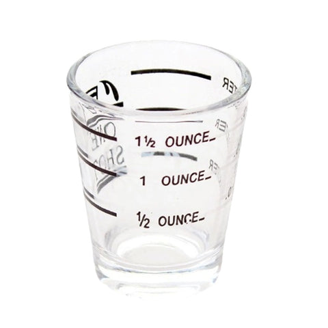 Kitchen Accessories Glass Measuring Cup for Espresso Cocktail 1.5oz Glassful Coffee cup BS