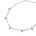 LWONGSale Dainty Gold Color Disc Coin Choker Beads Charms Choker Jewelry Simple Chain Chokers Necklaces for Women