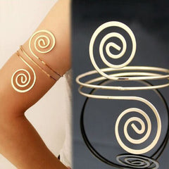 LalynnlyBracelet & Bangle Bohemian Ethnic Upper Arm Bracelet Gold  Vintage Arrow Open Bangle Armlet Arm Cuff B05941