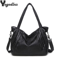 Large Soft Leather Bag for Women Handbags Ladies Crossbody Bags Hobos Shoulder Bags Female Big Tote Sac A Main