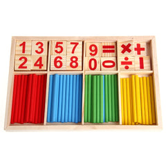 Math Manipulatives Wooden Counting Sticks Baby Kids Preschool Educational Toys