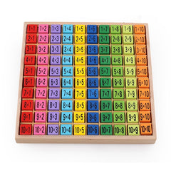 Mathematics Toys 99 Multiplication Table 10 * 10 Figure Toy Blocks Educational Kids Wooden Arithmetic Montessori Children's Toys