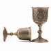 Metal Wine Cup Original Ecology Hand-made Vintage Wine Glass Cup Copper Goblet  Wineglass Water Carving Pattern Handicrafts BS