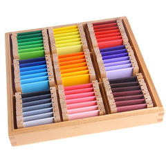 Montessori Sensorial Material Learning Color Tablet Box 1/2/3 Wood Preschool Training Kids Toy