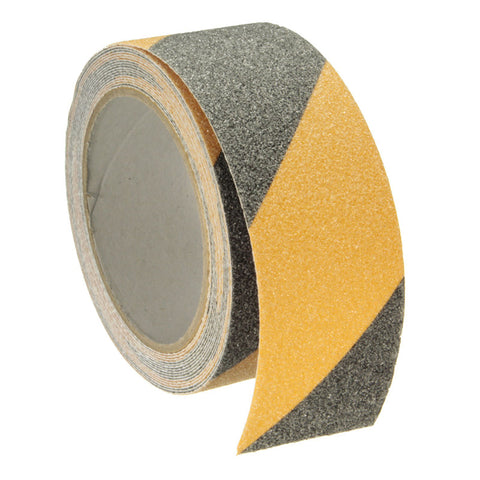 Safurance Yellow + Black 5m x 5cm Floor Safety Non Skid Tape Anti-slip Safe Self Adhesive Sticker High Grip