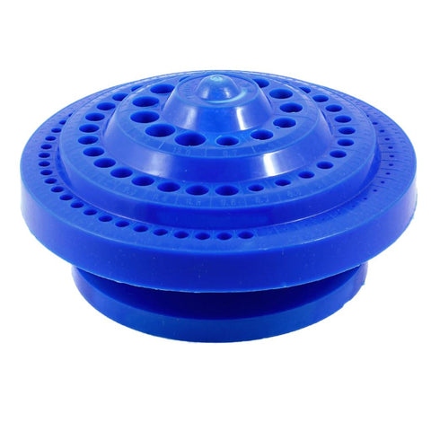NFLC Round Shape Plastic Hard Drill Bit Storage Case - Blue
