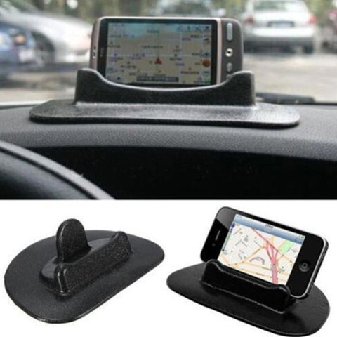 Black Car Mobile Phone Holder Dashboard Sticky Pad Mat Anti Non Slip Gadget GPS Interior Item Accessories