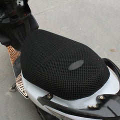 Breathable Summer Cool 3D Mesh Motorcycle Moped Motorbike Scooter Seat Covers Cushion Anti-Slip Waterproof XL