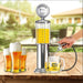 Mini Beer Dispenser Machine Drinking Vessels Double Gun Pump with Transparent LayerGas Station Bar for Drinking Wine