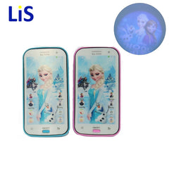 Snow Queen Toy Phone Talking Princess Anna Elsa Phone Mobile Learning & Education Baby Mobilephone Electronic Kids Toys