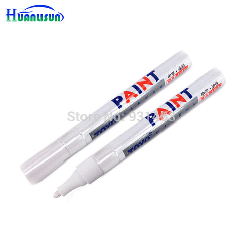 Universal White Tire Tread Rubber Paint Marker paint-mending Pen Car Motorcycle Whatproof Tire Metal