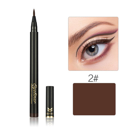 Waterproof No Shading Beaut No-stimulationy Makeup Cosmetic Eye Liner Black Brown Liquid Eyeliner Pen