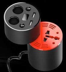 New hot car charger Comes with 90w inverter Car charger display Cigarette lighter