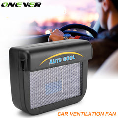 Onever Universal Solar Sun Powered Car Window Cooler Auto Air Vent Radiator Car Ventilation Vent Fan with Rubber Strip 0.3W