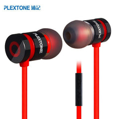 Original Plextone x6 Stereo Bass fone de ouvido Headset in ear headphones Noise Cancelling Earbuds For huawei xiaomi Smartphone