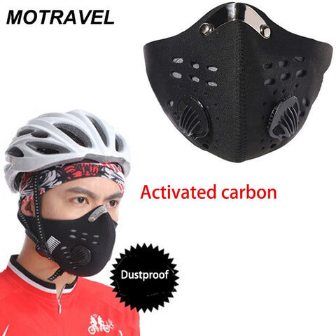 Outdoor Sport Anti Dust Mask Mens Cycling Motorcycle Racing Ski Half Face Mask Filter Air Pollutant Windproof Outdoor Protective