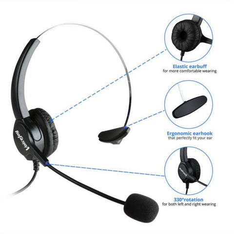 PROMOTION!!Office Headset Headphone with Mic ONLY for CISCO IP Phones 7940 7960 7970 7821 7841 7861 8851,8861 8941,8945,8961 etc