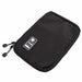 Portable Storage bag Travel Organizer Shockproof Earphone Digital USB Cable Sorting Travel Insert Bags Durable Zipper Tool Bags