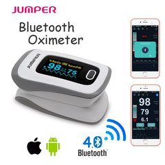 Pulsioximetro Oximetro Finger Pulse Oximeter De Pulso De Dedo SpO2 Saturation Meter connect IOS Android Phone APP by Bluetooth