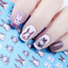Rabbit Pattern Nail Water Decal Kawaii Bunny Nail Art Transfer Sticker 12.8*5.5cm Manicure Decoration