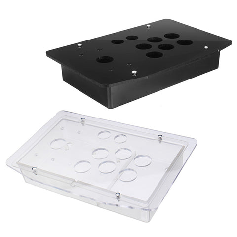 Replacement Arcade Game Kit 5mm DIY Clear Black Arcade Joystick Acrylic Panel Case Handle Sturdy Construction Easy to Install