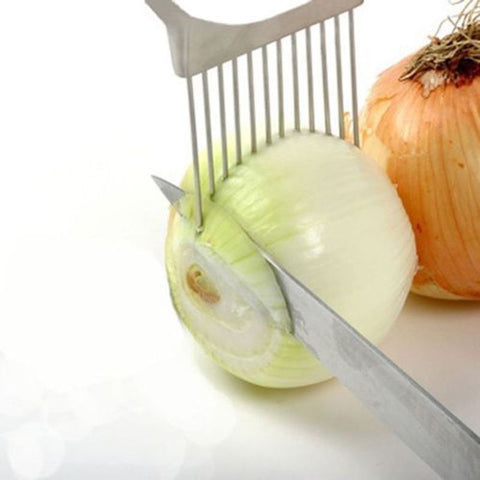 Stainless Steel Onion Slicer Vegetable Tomato Holder Cutter Kitchen Tools GadgetKitchen