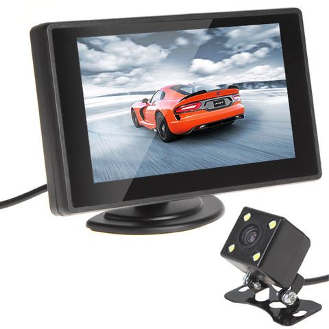 Sale 480 x 272 Resolution 4.3 Inch Color Lcd Car Monitor + 420 TV Lines Night Vision Camera with 170 Degrees Wide Angle Lens