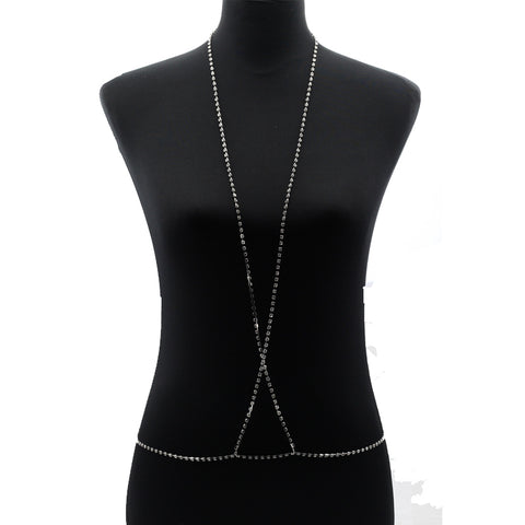 Sexy Chains necklace women Harness  bra Sparkle Body Necklace Chain Statement  Crystal necklacejewelry