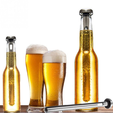 Stainless Steel Beer Chiller Stick pour Beer Cooler Beverage Cooling Set Chill Frozen Stick Ice Durable Barware Beer