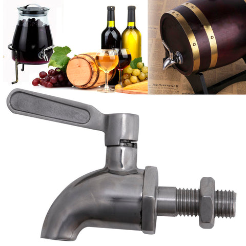 Stainless Steel Beverage Drink Dispenser Wine Barrel Spigot / Tap / Faucet M12