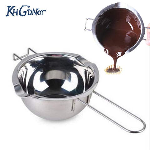Stainless Steel Chocolate Melt Bowl Fondant Gum Paste Tool Butter Heating Kettle For Baking Kitchen Accessories