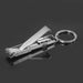 Stainless Steel Ultra-thin Foldable Hand Toe Nail Clippers Cutter Trimmer Keychain Quality