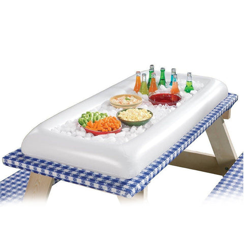 Summer Inflatable Beer Table Pool Float Water Party Air Mattress Ice Bucket /Salad Bar Tray Food Drink Dining Table