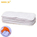 Sunny ju 5 PCS/LOT 3 layers Inserts Microfiber Cotton Soft Baby Nappies Washable Reuseable Baby Cloth Diapers Nappy