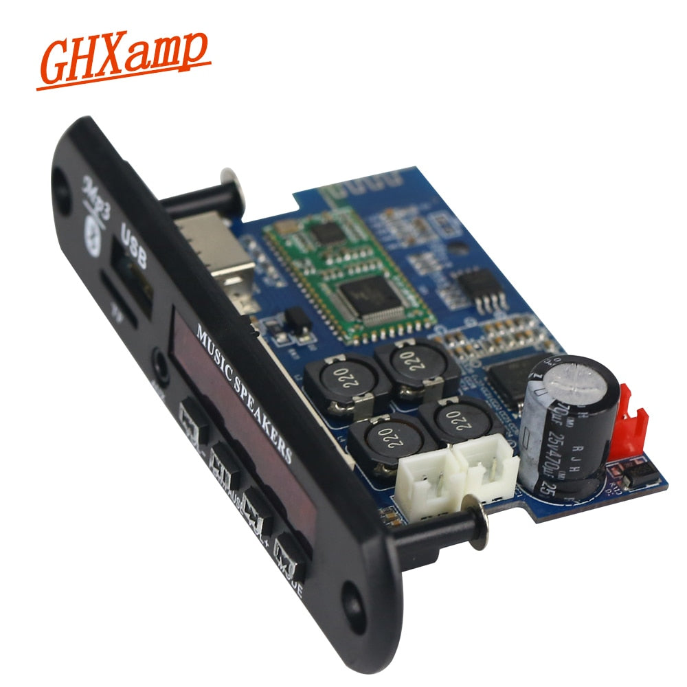 TDA7492P 25W+25W Bluetooth Amplifier Board + MP3 Decoder Board WAV APE  Lossless Audio USB TF AUX DC12V-24V
