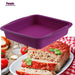TEENRA 1Pcs 9 inch Silicone Baking Pan Square Baking Dish Bread Baking Forms Silicone Cake Pan Mold Bread Pan Kitchen Tools