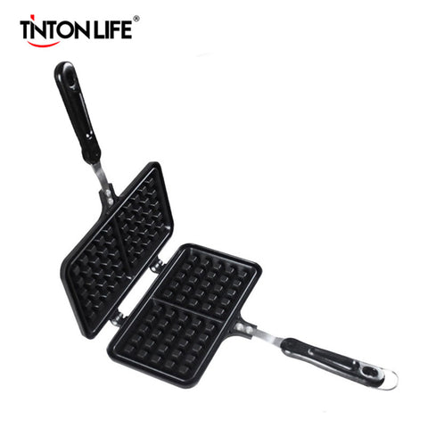 TINTON LIFE Two Grid Muffin Pan Muffin Mold Waffle Pan Maker Baking Tools Nonstick Pan Aluminum Bakeware Baking Accessories