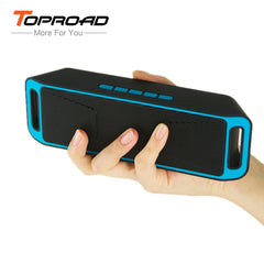 TOPROAD Portable Wireless Bluetooth Speaker 4.0 Caixa De Som Stereo Subwoofer Speakers TF USB FM Radio Mic Dual Bass Sound Box
