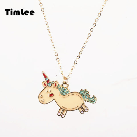 Timlee N056Cartoon   Animals Unicorn Cute NecklacesJewelry